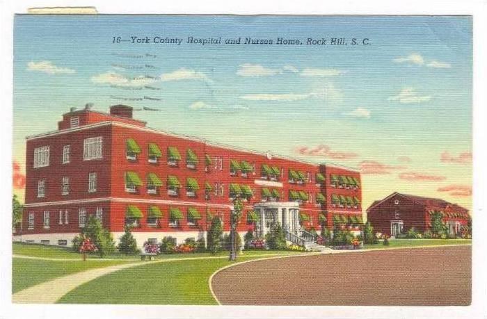 York County Hospital & Nurses Home, Rock Hill, South Carolina, PU-1949