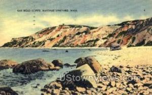 Gay Head Cliffs Marthas Vineyard MA 1941