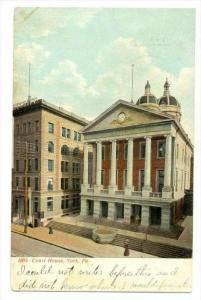 Court House (Exterior), York, Pennsylvania, PU-1911