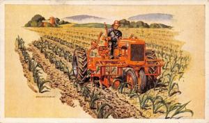 Allis Chalmers MODEL C Tractor~Rreplaces 6 Horses~Farmer in Corn Field~1940 Adv
