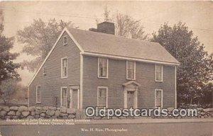 Birthplace of John Quincy Adams, 6th President Quincy, Mass, USA Unused
