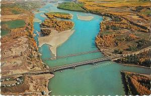 Peace River Bridge, Taylor Flats, BC, British Columbia ,Canada, Chrome.  Pipeli
