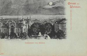 Weimar Thuringia Germany Gruss aus scenic view at night antique pc Z26137