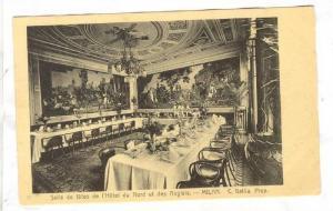 Interior, Salle de fetes de l'Hotel du Nord et des Anglais, Milan, Lombardia,...