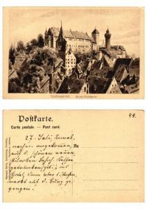 CPA AK GERMANY  Nürnberg Burg-Südseite (572334)