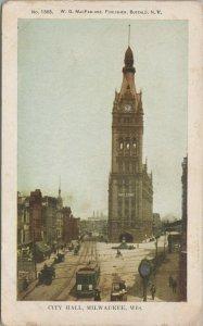 Vintage Postcard Milwaukee City Hall Picture Wisconsin-pub. by W.G McFarlane