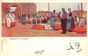Netherlands Kaasmarkt te Alkmaar, Cheese Market 1905