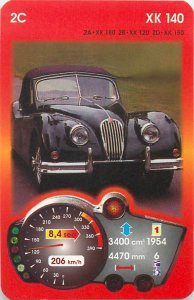 Piatnik 6x9cm auto revue trade card 2C JAGUAR XK 140