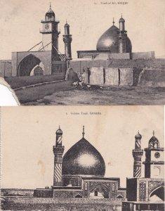 Iraq Ali Golden Nedjef Tomb 2x Old Postcard s