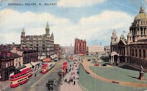 Northern Ireland Belfast, Donegall Square N. Auto Buses Cars 1959