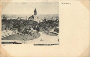 EARLY CENTURY UDB POSTCARD VIEW EAST FROM THE CAPITOL ALBANY NEW YORK NY