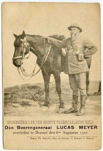Den Boerengeneraal Lucas Meyer Commander Boar War Brussels 1902 Postcard