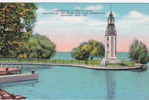 Wisconsin Oshkosh Lighthouse At Bray's Point