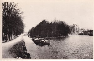 Speedboat at Chalons Sur Marne Cathedrale RPC Boat Postcard