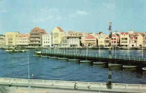 curacao, N.W.I., WILLEMSTAD, Harbour Entrance with Pontoon Bridge (1971) Stamp