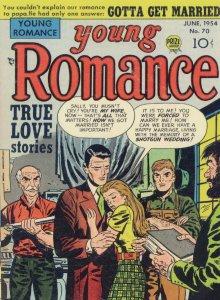 Young Romance True Love 1950s Comic Book Shotgun Wedding Postcard