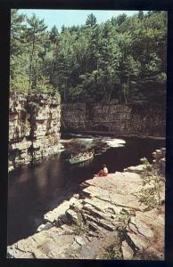 Ausable Chasm, New York/NY Postcard, Near End Of Boat Ride
