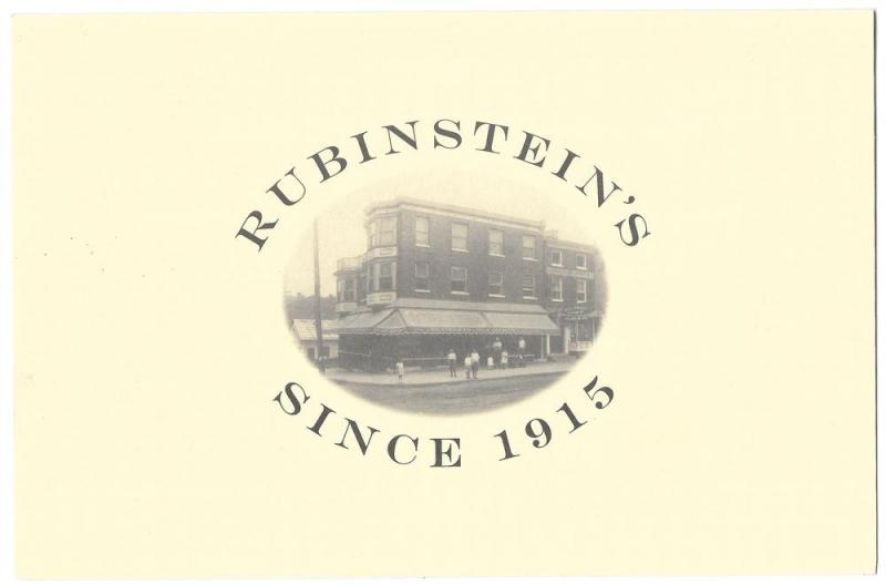 West Chester PA Rubinsteins Invitation Card 90th Anniversary