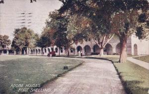 Minnesota Minneapolis Adobe Houses Fort Snelling 1908
