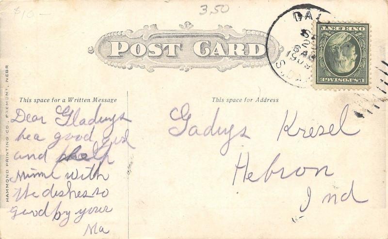 Dallas South Dakota~Radak Lumber Co~Smiths Lumber Yard~Hotel Robertson~1908 PC