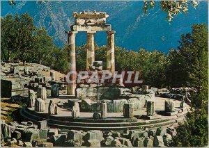 Postcard Modern Delphi Temple Anthena Pronaea