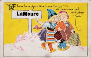 LaMOURE, North Dakota, PU-1916; We Bane Have Goot Time There Yonny, We Bane Com