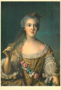 Postcard Madame Sophie de France fille de Louis XV portrait by JM Nattier
