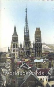 Rouen, France, Carte, Postcard Notre Dame Cathedral  Notre Dame Cathedral