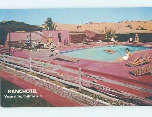 Unused Pre-1980 SWIMMING POOL AT RANCHOTEL MOTEL Vacaville California CA B6001