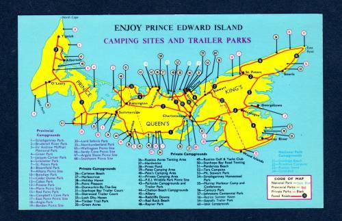 PEI Camping Trailer Parks Map PRINCE EDWARD ISLAND PC
