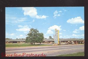 TULSA OKLAHOMA ROUTE 66 MANOR MOTEL 1960's CARS VINTAGE ADVERTISING POSTCARD
