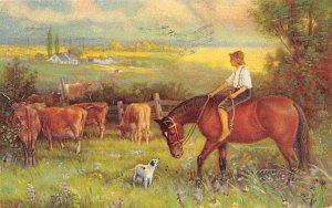 Farming Post Card Sharpless Suction Feed Separator 1919