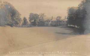 RPPC Robert Lincoln's Summer Residence, Manchester, Vermont 1908 Postcard