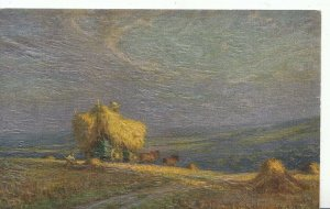 Agriculture Postcard - Harvest - Loading Up Straw Onto Cart - Ref ZZ3945