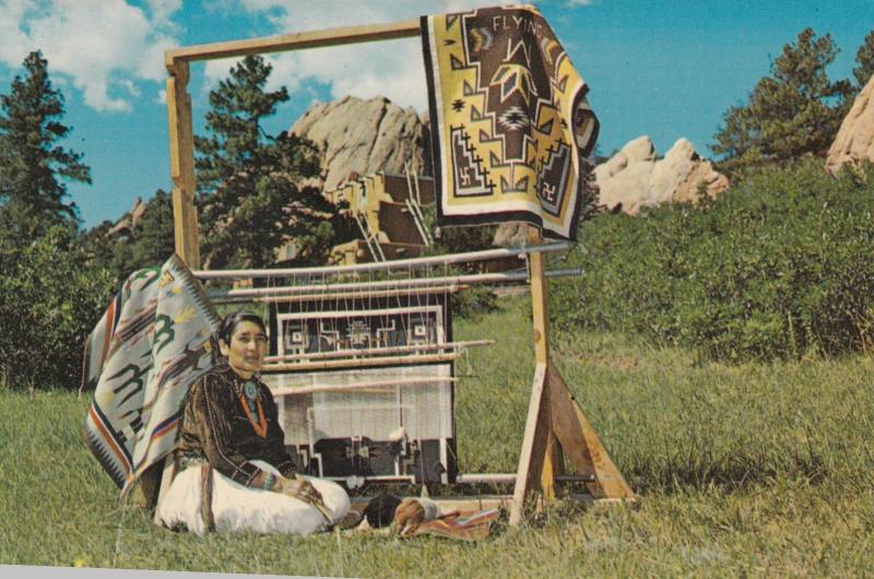 Navajo Indian Rug Weaver , Colorado Springs , 50-60s