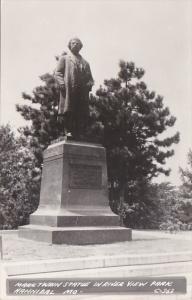 Missouri Hannibal Mark Twain Statue In River View Park Real Photo