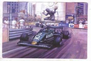 Racing postcard by Artist Michael TURNER, 1995 ; #4
