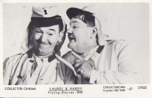 Laurel & Hardy in Flying Deuces Film Postcard