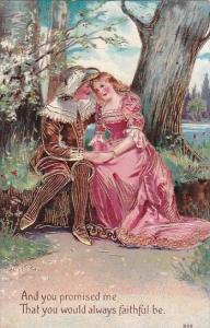 Romantic Victorian Couple In Forest