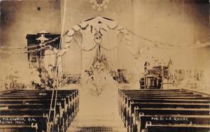 Fulton Michigan~Methodist Episcopal Church Sanctuary~c1910 RPPC