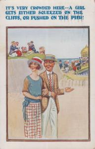 Peeping Tom With Circus Lady Getting Undressed Mr Buttons Comic Humour Postcard