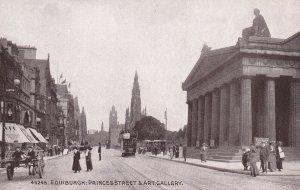 EDINBURGH, Scotland, 1900-1910s; Princes Street And Art Gallery