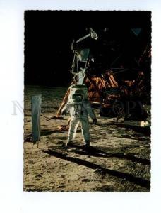 133568 SPACE PROPAGANDA Man on moon old photo postcard