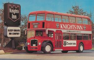 Knights Inn Motel - Double-Decker Bus imported from England - Roadside