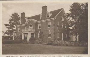 Massachusetts Mount Hermon Ford Cottage Mount Hermon School Albertype