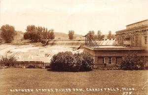 D96/ Cannon Falls Minnesota Photo RPPC Postcard 1946 Northern States Power Dam