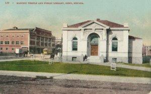 RENO , Nevada, 1900-10s ; Masonic Temple & Library