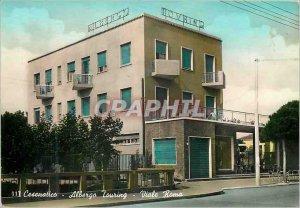 Postcard Modern Cesenatico albergo touring violates Roma