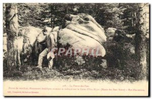 Old Postcard Dolmen Standing Stone Stone Stone fairies sacrifices Mountains B...