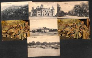 Pakistan some Peshawar ,ethnic lot 7 vintage postcards